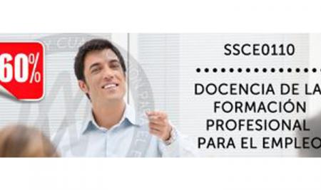 Certificado de docencia de la formación para el empleo al 60% de descuento