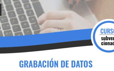GRABACIÓN DE DATOS